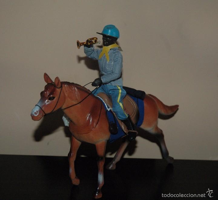 Reproducciones Figuras de Acción: Madelman MDE 7 Septimo de Caballeria nordista negro con caballo - Foto 2 - 129510447