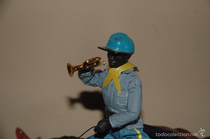 Reproducciones Figuras de Acción: Madelman MDE 7 Septimo de Caballeria nordista negro con caballo - Foto 3 - 129510447