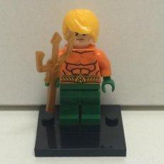 Reproducciones Figuras de Acción: MINIFIGURES SUPERHEROES AQUAMAN COMPATIBLE LEGO. Lote 71436691