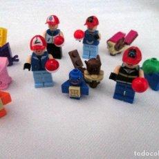 Reproducciones Figuras de Acción: MINIFIGURAS POKEMON GO. 4 ENTRENADORES Y 8 POKEMONS. PIKACHU. TIPO LEGO COMPATIBLE.. Lote 64808071