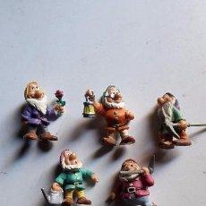 Reproducciones Figuras de Acción: LOTE DE 5 FIGURAS . ENANITOS DE BLANCANIEVES. PVC.. Lote 67579181