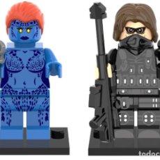 Reproducciones Figuras de Acción: LOTE MINIFIGURAS MISTICA Y SOLDADO DE INVIERNO. COMP. LEGO. NUEVAS EN SU BOLSA!. Lote 67759685