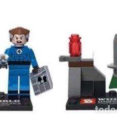 Reproducciones Figuras de Acción: LOTE MINIFIGURAS 4 FANTASTICOS: MISTER FANTASTICO Y DOCTOR MUERTE. COMP. LEGO. NUEVAS EN SU BOLSA!. Lote 67762541