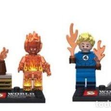 Reproducciones Figuras de Acción: LOTE MINIFIGURAS 4 FANTASTICOS: DOS ANTORCHA HUMANA. COMP. LEGO. NUEVAS EN SU BOLSA!. Lote 67762973