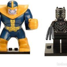 Reproducciones Figuras de Acción: LOTE MINIFIGURAS THANOS Y PANTERA PANTHER. COMP. LEGO. NUEVAS EN SU BOLSA!. Lote 67763337