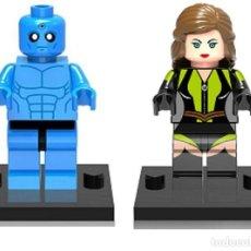 Reproducciones Figuras de Acción: LOTE MINIFIGURAS WATCHMEN: DOCTOR MANHATTAN Y ESPECTRO DE SEDA. COMP. LEGO. NUEVAS EN SU BOLSA!. Lote 67764005