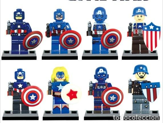 AmericaMarvel Minifiguras Capitan SuperheroesTipo Versiones Lego 8 xreCodB