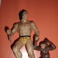 Reproducciones Figuras de Acción: FIGURA DE GOMA TARZAN Y LA MONA CHITA. Lote 75642919