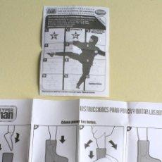 Reproducciones Figuras de Acción: GEYPERMAN BIZAK, CUPON PARA RELLENAR E INSTRUCCIONES PARA PONER Y QUITAR BOTAS, AÑO 2005. Lote 75958131