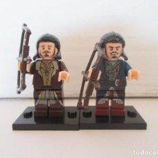 Reproducciones Figuras de Acción: LOTE MINIFIGURAS BARDO DOS VERSIONES. LORD OF THE RINGS HOBBIT SEÑOR ANILLOS. COMP. LEGO!. Lote 78617921