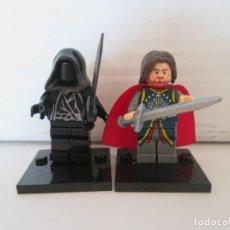 Reproducciones Figuras de Acción: LOTE MINIFIGURAS NAZGU Y ARAGORN REY. LORD OF THE RINGS HOBBIT SEÑOR ANILLOS. COMP. LEGO!. Lote 78620529