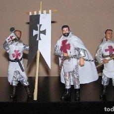 Reproducciones Figuras de Acción: MADELMAN MDE HISTÓRICO LOTE CABALLEROS TEMPLARIOS. Lote 93806215