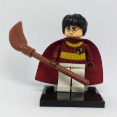 Reproducciones Figuras de Acción: HARRY POTTER QUIDDITCH MINI FIGURA HARRY POTTER COMPATIBLE CON LEGO. Lote 119837315