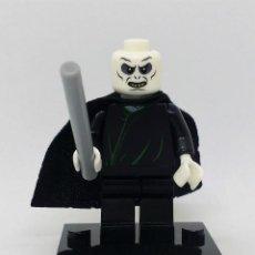 Reproducciones Figuras de Acción: LORD VOLDEMORT CON VARITA MINI FIGURA COMPATIBLE CON LEGO. Lote 97209931