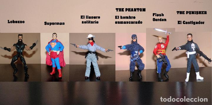 Reproducciones Figuras de Acción: Madelman MDE superheroes 4 The Punisher El Castigador - Foto 5 - 97826948