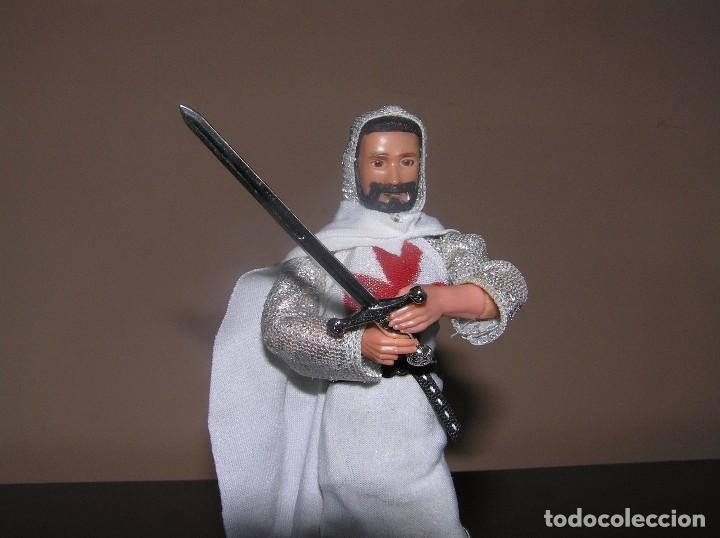 Reproducciones Figuras de Acción: Madelman MDE Histórico medieval. caballero templario - Foto 2 - 98550755