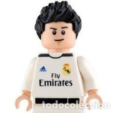 Reproducciones Figuras de Acción: LEGO MINIFIGURA CRISTIANO RONALDO REAL MADRID. ORIGINAL Y SUPER RARA. Lote 107398031