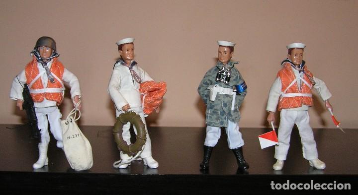 Reproducciones Figuras de Acción: Madelman MDE lote Armada Marina. Artillero, Policia del Mar y dos marineros. - Foto 2 - 144140009