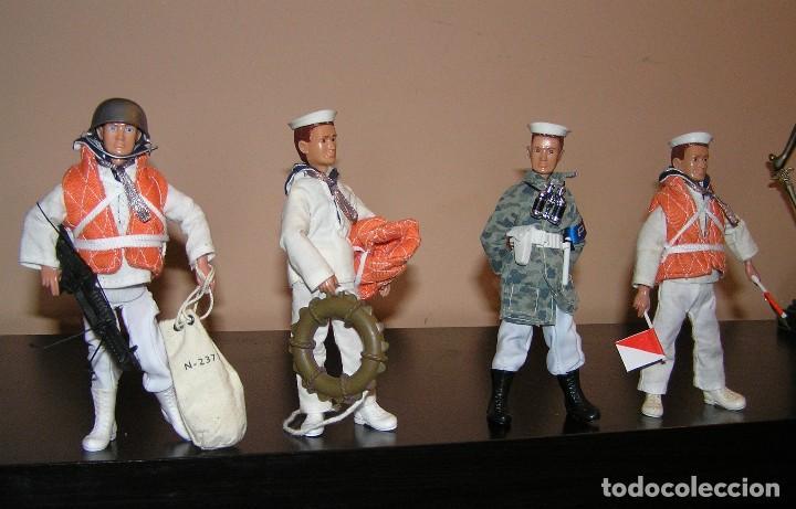Reproducciones Figuras de Acción: Madelman MDE lote Armada Marina. Artillero, Policia del Mar y dos marineros. - Foto 3 - 144140009