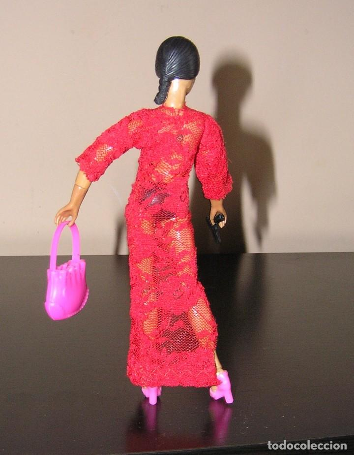 Reproducciones Figuras de Acción: Madelman MDE madelwoman Mata Hari espia con vestido de noche, pistola, bolso y zapatos de tacon - Foto 6 - 111199124