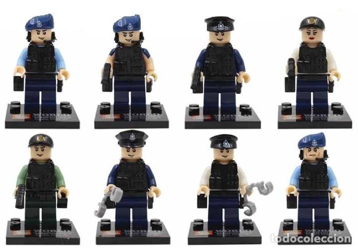 Lote De 8 Figuras Compatibles Con Lego Swat Verkauft Durch