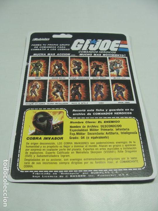 Reproducciones Figuras de Acción: Cobra Invasor de Rubiplas (Venezuela) 1991 - Full Cardback REPRODUCCION - GIJoe G.I.Joe Cobra Cupra - Foto 2 - 121266751
