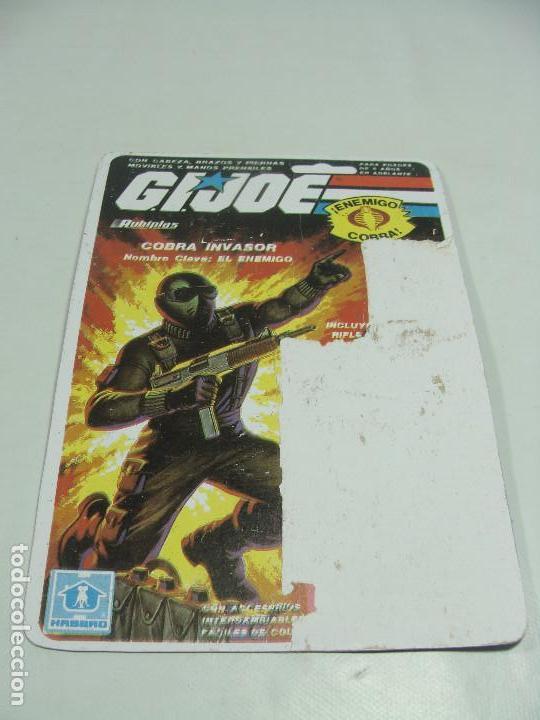 Reproducciones Figuras de Acción: Set de 3 REPRODUCCIONES de Full Cardbacks de Rubiplas Venezuela 1991 Cobra Invasor Soldier - GIJoe - Foto 3 - 121268239