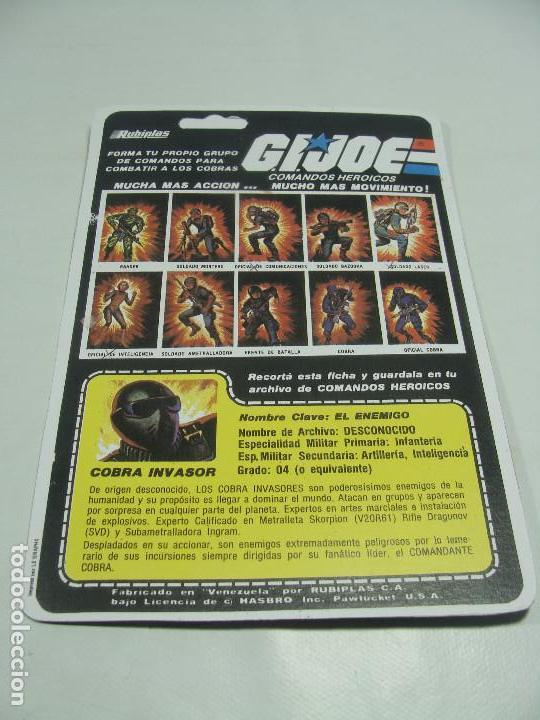 Reproducciones Figuras de Acción: Set de 3 REPRODUCCIONES de Full Cardbacks de Rubiplas Venezuela 1991 Cobra Invasor Soldier - GIJoe - Foto 4 - 121268239