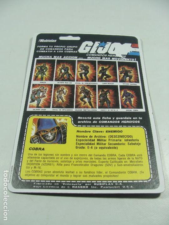 Reproducciones Figuras de Acción: Set de 3 REPRODUCCIONES de Full Cardbacks de Rubiplas Venezuela 1991 Cobra Invasor Soldier - GIJoe - Foto 6 - 121268239