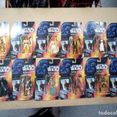 Reproducciones Figuras de Acción: LOTE DE 12 FIGURAS STARS WARS TODAS DIFERENTES,THE POWER OF THE FORCE,MADE IN CHINA SON FALSAS. Lote 132504854