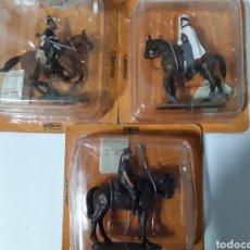 Reproducciones Figuras de Acción: LOTE 3 FIGURAS DE PLOMO. ED DEL PRADO. COLECCIÓN CABALLEROS. Lote 140313409