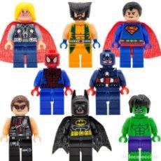 Reproducciones Figuras de Acción: LOTE 8 FIGURAS SUPERHÉROES (BATMAN, SUPERMAN, THOR, ETC.) FIGURAS COMPATIBLES. EN BOLSITAS.. Lote 233933285