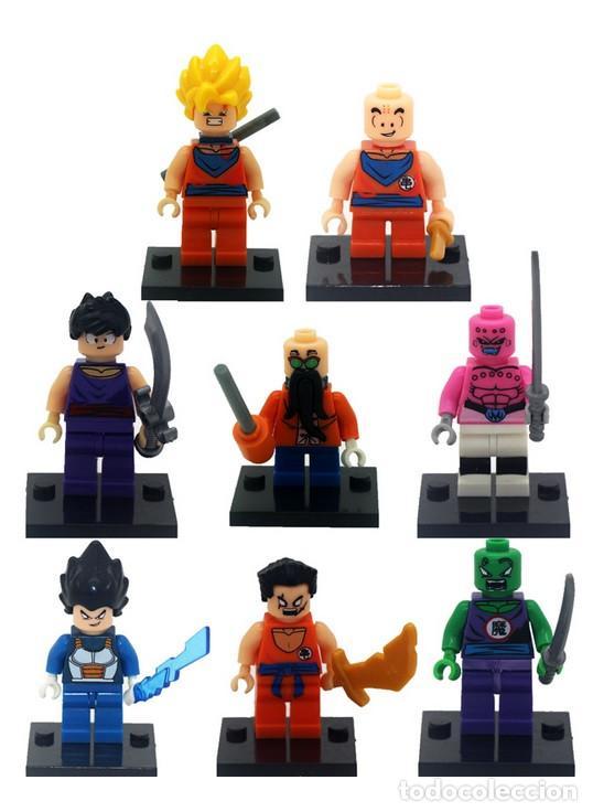 LOTE DE 8 FIGURAS COMPATIBLES CON LEGO DRAGON BALL (Juguetes - Reproducciones Figuras de Acción)
