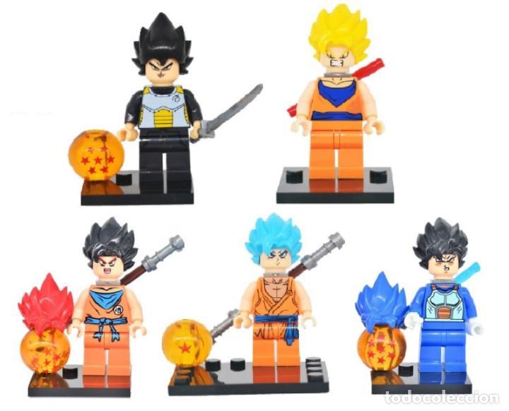 LOTE DE 5 FIGURAS COMPATIBLES CON LEGO DRAGON BALL (Juguetes - Reproducciones Figuras de Acción)