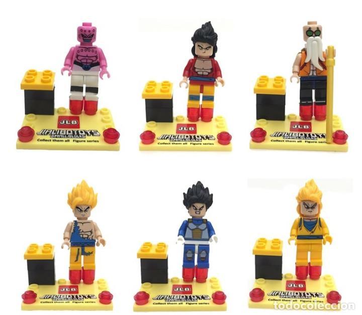 LOTE DE 6 FIGURAS COMPATIBLES CON LEGO DRAGON BALL TENKAICHI (Juguetes - Reproducciones Figuras de Acción)