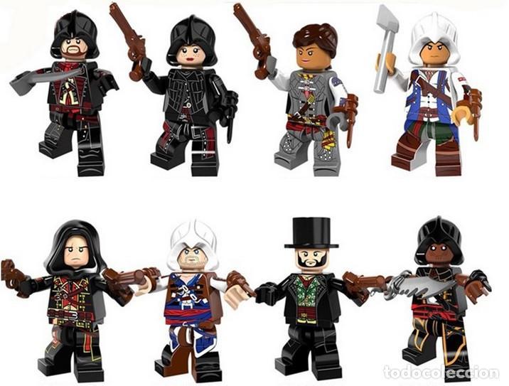 LOTE DE 8 FIGURAS COMPATIBLES CON LEGO ASSASSINS CREED (Juguetes - Reproducciones Figuras de Acción)