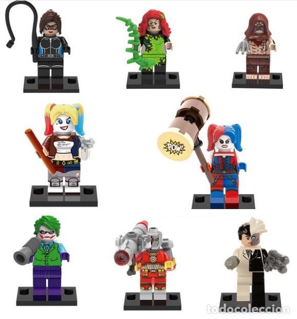LOTE DE 8 FIGURAS COMPATIBLES CON LEGO SUPER HEROES (DEADSHOT, HIEDRA VENENOSA, CATWOMAN, JOKER, HA (Juguetes - Reproducciones Figuras de Acción)