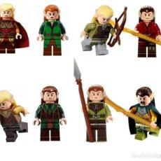 Reproducciones Figuras de Acción: LOTE DE 8 FIGURAS COMPATIBLES CON LEGO EL SEÑOR DE LOS ANILLOS THE HOBBIT. Lote 150881106