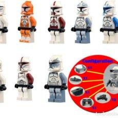 Reproducciones Figuras de Acción: LOTE DE 8 FIGURAS COMPATIBLES CON LEGO STAR WARS SOLDADOS CLON. Lote 150885726
