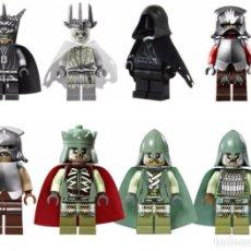 Reproducciones Figuras de Acción: LOTE DE 8 FIGURAS COMPATIBLES CON LEGO EL SEÑOR DE LOS ANILLOS THE HOBBIT. Lote 151041334