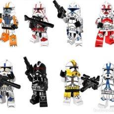 Reproducciones Figuras de Acción: LOTE DE 8 FIGURAS COMPATIBLES CON LEGO STAR WARS SOLDADOS CLON STORMTROOPER. Lote 151176602