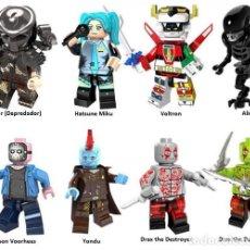 Reproducciones Figuras de Acción: LOTE DE 8 FIGURAS COMPATIBLES CON LEGO PREDATOR (DEPREDADOR), HATSUNE MIKU, VOLTRON, ALIEN, JASON VO. Lote 151463766