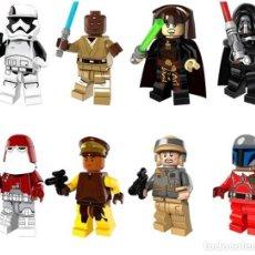 Reproducciones Figuras de Acción: LOTE DE 8 FIGURAS COMPATIBLES CON LEGO STAR WARS (SOLDADOS TROOPERS, MACE WINDU, LUMINARA UNDULI, DA. Lote 151463818