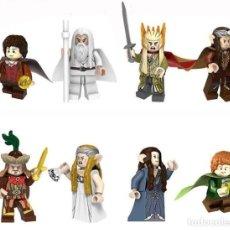Reproducciones Figuras de Acción: LOTE DE 8 FIGURAS COMPATIBLES CON LEGO EL SEÑOR DE LOS ANILLOS THE HOBBIT. Lote 151666682