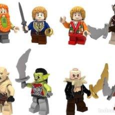 Reproducciones Figuras de Acción: LOTE DE 8 FIGURAS COMPATIBLES CON LEGO EL SEÑOR DE LOS ANILLOS THE HOBBIT. Lote 151666694