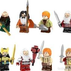 Reproducciones Figuras de Acción: LOTE DE 8 FIGURAS COMPATIBLES CON LEGO EL SEÑOR DE LOS ANILLOS THE HOBBIT. Lote 151666706