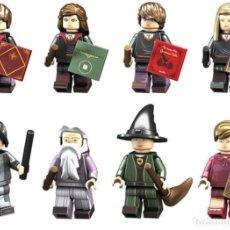 Reproducciones Figuras de Acción: LOTE DE 8 FIGURAS COMPATIBLES CON LEGO HARY POTTER (HEMIONE, RON WEASLEY, GINNY WEASLEY, SEVERUS SNA. Lote 151666726