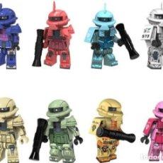 Reproducciones Figuras de Acción: LOTE DE 8 FIGURAS COMPATIBLES CON LEGO MOBILE SUIT GUNDAM. Lote 151666758