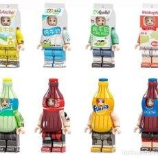 Reproducciones Figuras de Acción: LOTE DE 8 FIGURAS COMPATIBLES CON LEGO REFRESCOS (SPRITE, COCACOLA, FANTA, PEPSI). Lote 151666762