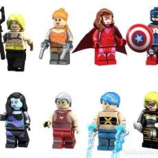 Reproducciones Figuras de Acción: LOTE DE 8 FIGURAS COMPATIBLES CON LEGO AQUAMAN, BLOODSTONE, BRUJA ESCARLATA, CAPITAN AMERICA, SNOW F. Lote 151666774